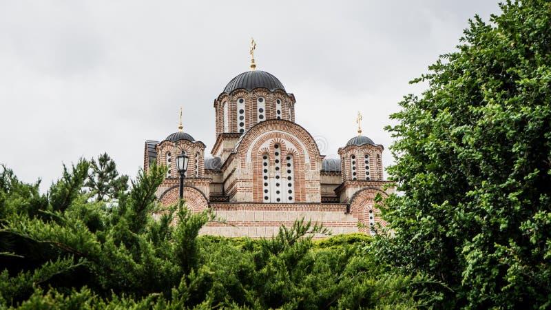 Hercegovacka Gracanica - православная церков церковь в Trebinje, Боснии и Герцеговине Монастырь монастыря сербский правоверный стоковое фото