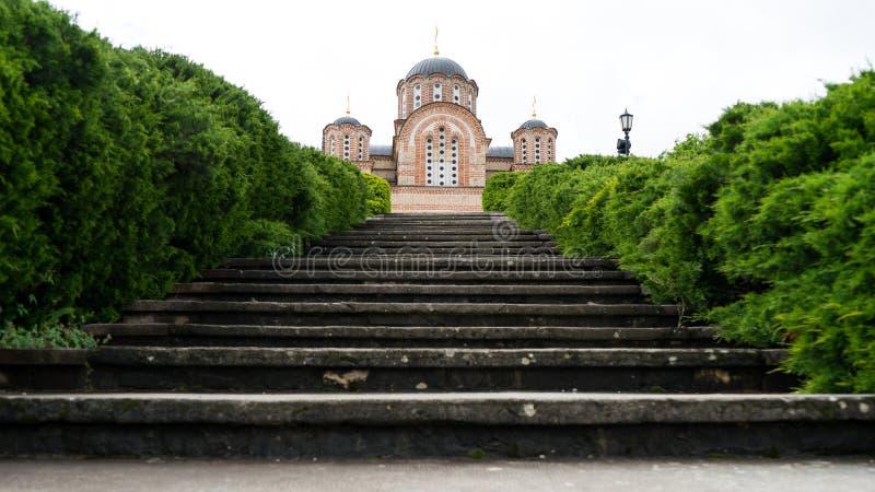 Hercegovacka Gracanica - orthodoxe Kirche in Trebinje, Bosnien und Herzegowina Serbisches orthodoxes Kloster des Klosters stockfotos