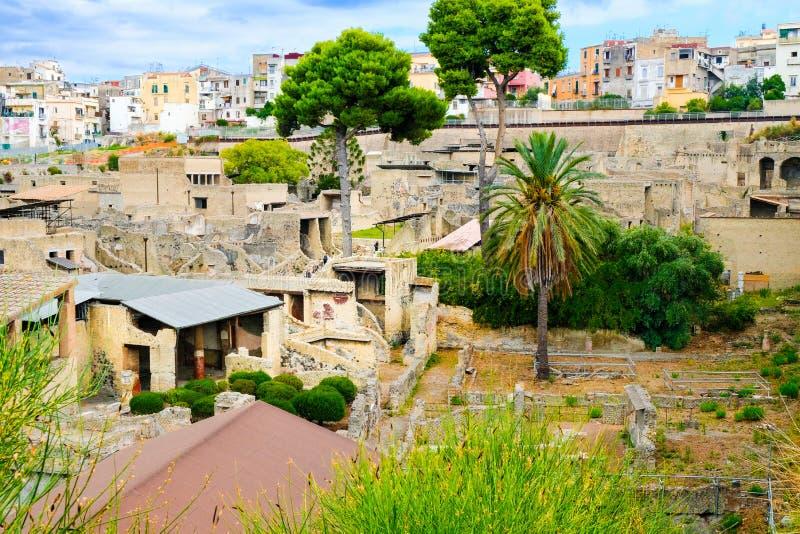 Herculaneum, αρχαία ρωμαϊκή πόλη Άποψη σχετικά με τη archeological περιοχή, Ercolano, Ιταλία στοκ φωτογραφίες με δικαίωμα ελεύθερης χρήσης