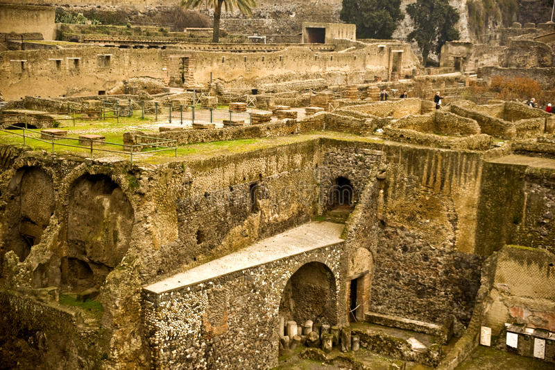 Herculaneum royaltyfria foton
