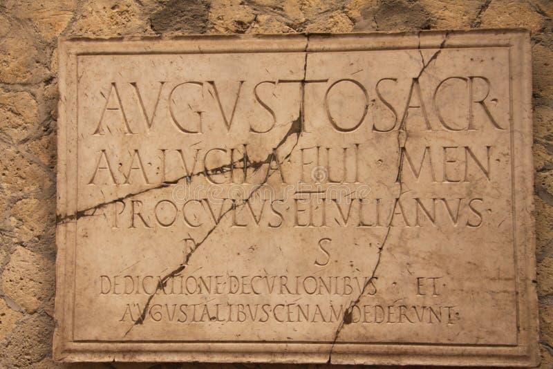herculaneum royaltyfri foto