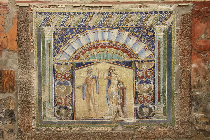 herculaneum royaltyfri bild