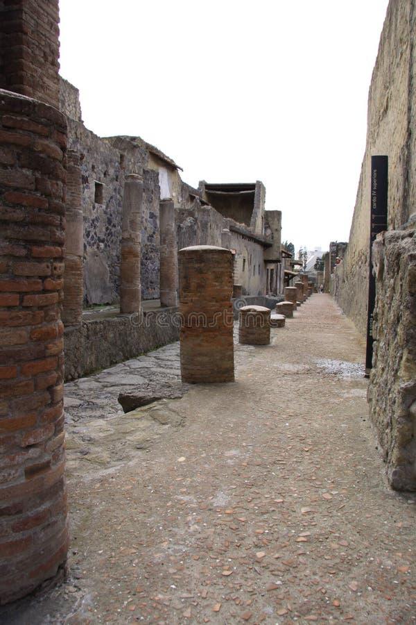herculaneum royaltyfria bilder