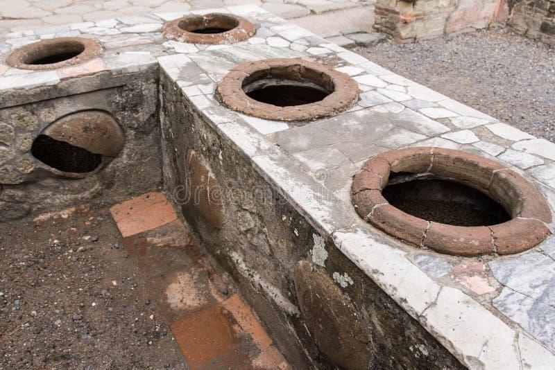 Herculaneum, der Potenziometer kocht lizenzfreies stockbild