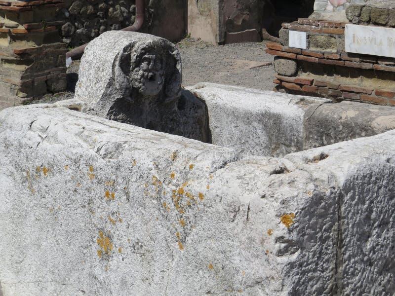 Herculaneum eller Ercolano en forntida romersk stad italy royaltyfria bilder