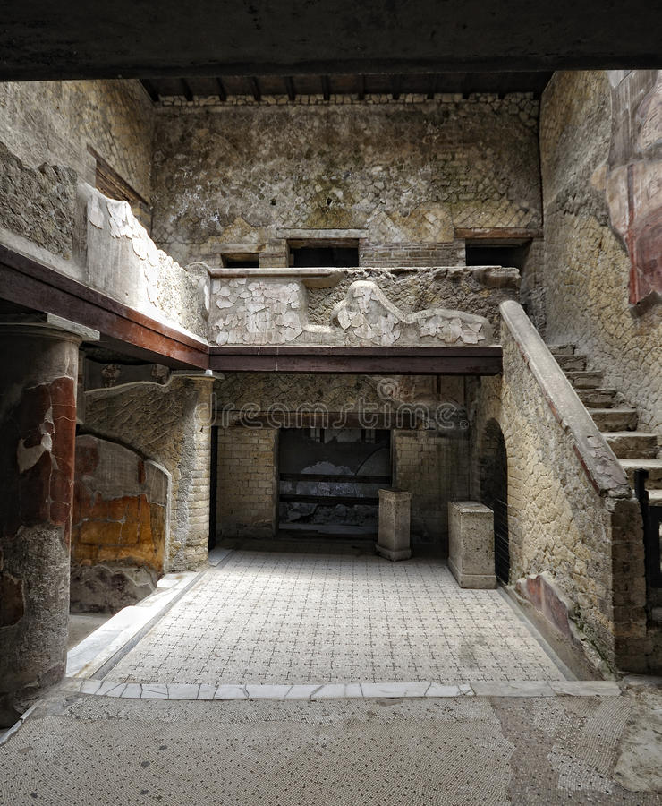 Herculaneum husinre arkivfoton