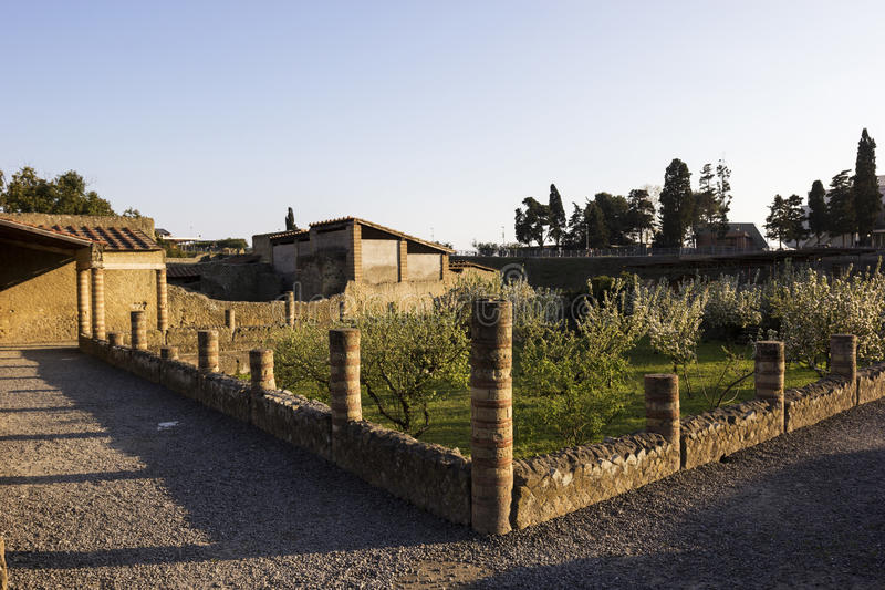 Herculaneum in Italië royalty-vrije stock afbeeldingen