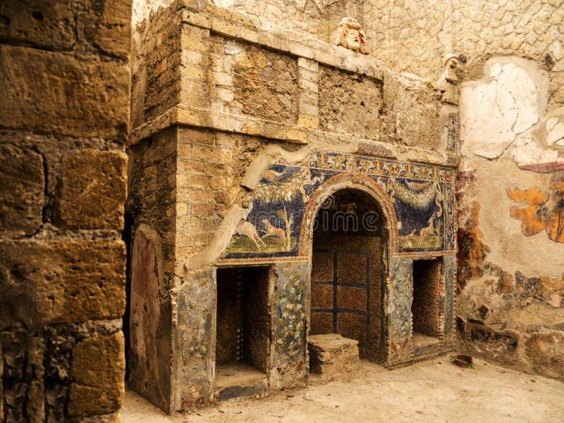 Herculaneum oder Ercolano, nahe Neapel in Italien ist gerade unter der modernen Stadt stockfoto