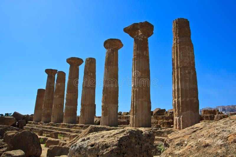 Hercule świątynia - Agrigento obraz royalty free