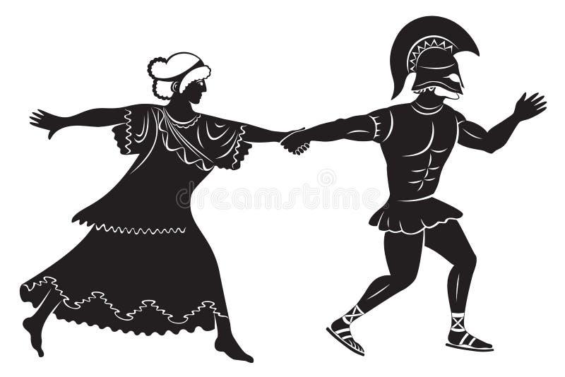 Hercule et fille illustration stock