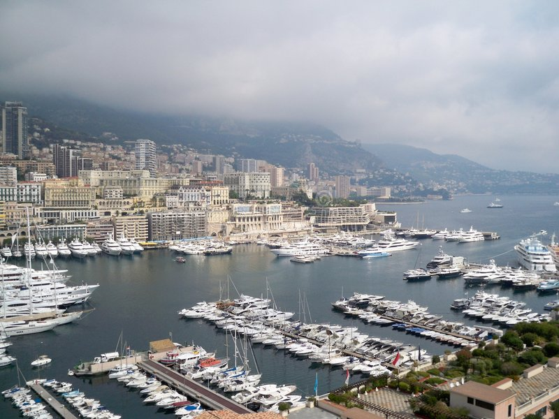 herculemonaco port royaltyfria bilder