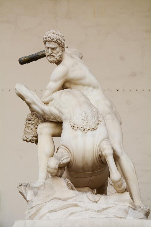 Hercules-afstraffing Nessus, Florence, Italië stock afbeelding