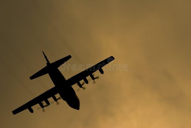 Hercules airplane royalty free stock image