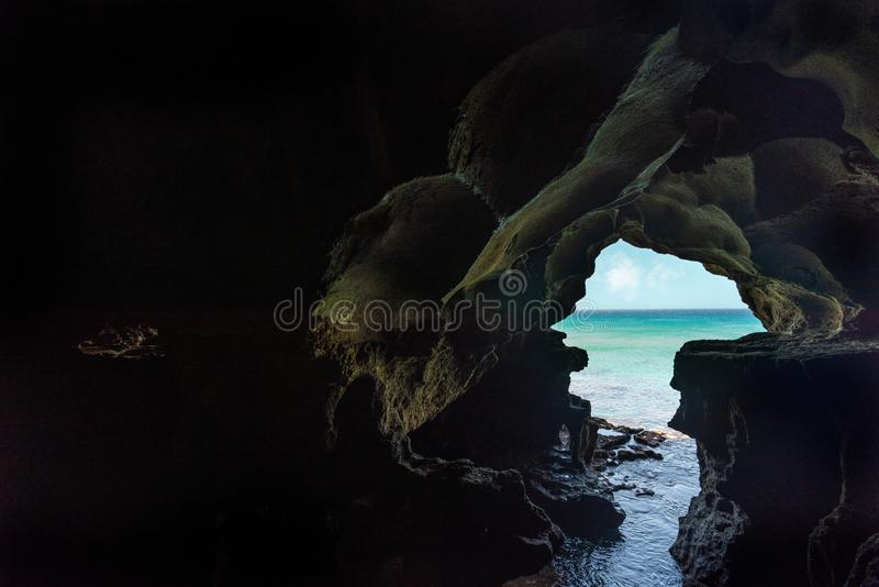 Hercules Caves près de Tanger, Maroc images stock