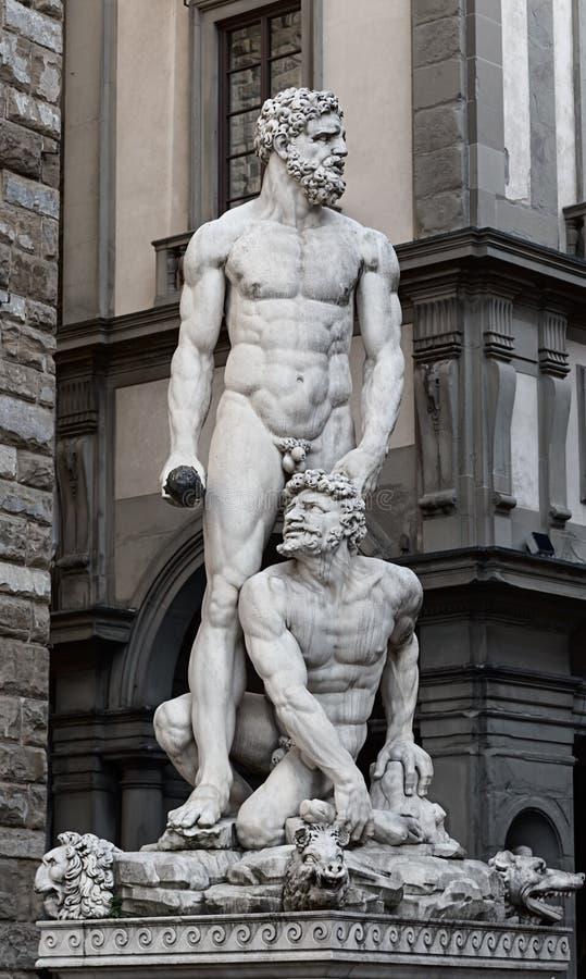 Hercules e Cacus foto de stock