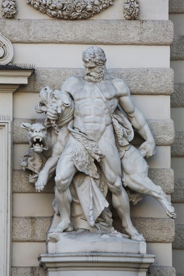 Hercules e Cerberus fotografia de stock royalty free