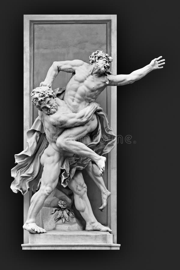 Hercules en Antaeus royalty-vrije stock fotografie