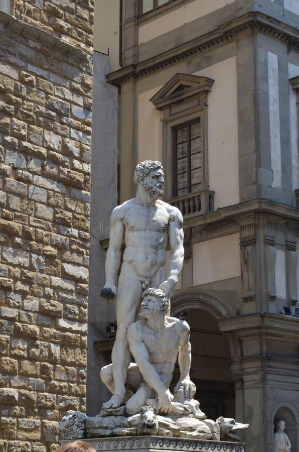 Hercules en Cacus door Bandinelli 1533 royalty-vrije stock afbeelding