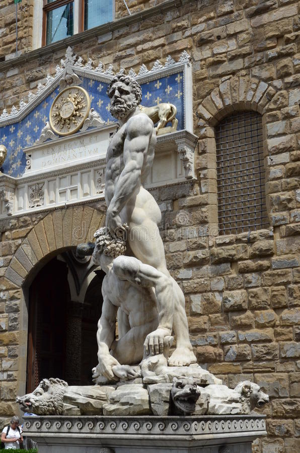 Hercules en Cacus door Bandinelli 1533 royalty-vrije stock fotografie