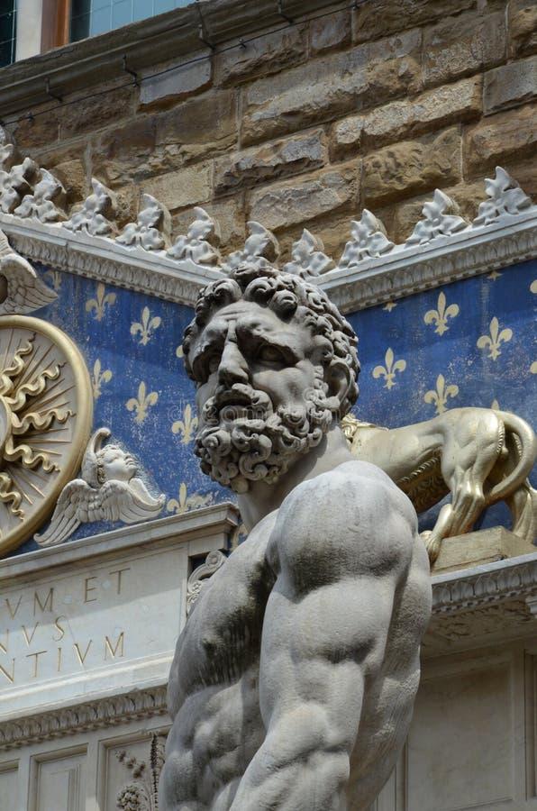 Hercules en Cacus door Bandinelli 1533 royalty-vrije stock foto's