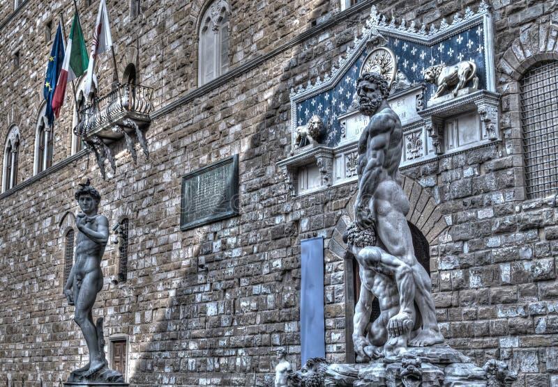 Hercules en David royalty-vrije stock fotografie