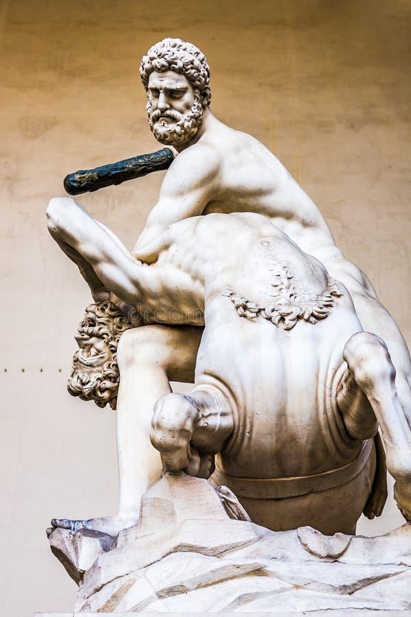 Hercules en de centaur Nessus, lanzi van Loggiadei, Florence royalty-vrije stock foto's