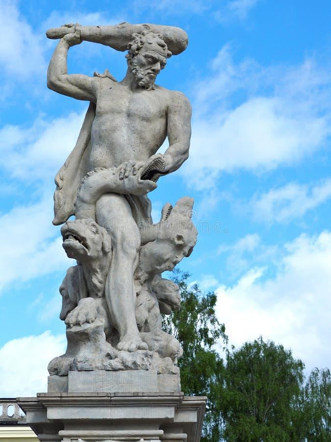 Hercules en Hydra royalty-vrije stock foto's