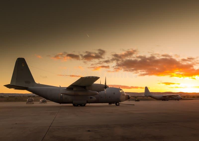 Hercules flygplan VI royaltyfria bilder
