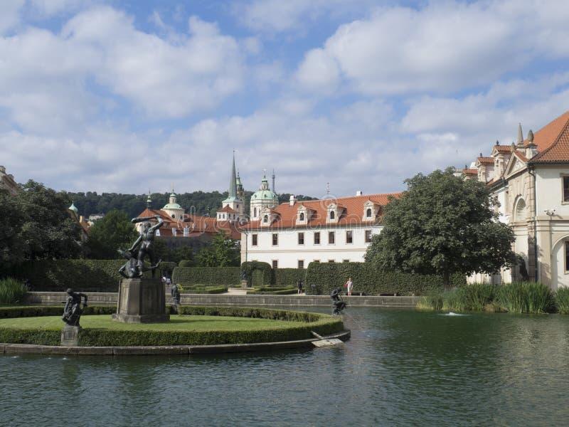 Hercules-fontein, Wallenstein-Tuin, Praag royalty-vrije stock foto