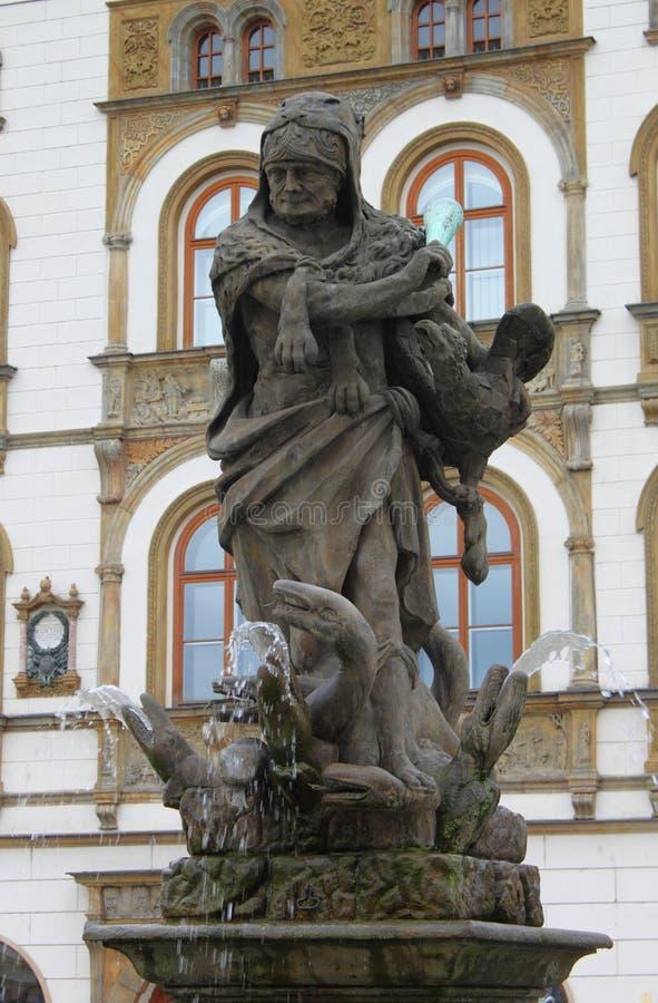 Hercules Fountain, Olomouc stock foto