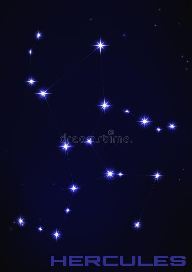 Hercules gwiazdozbiór ilustracji