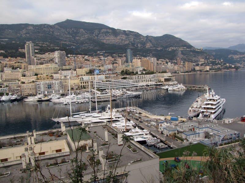 Hercules-haven van het kapitaal van Monte Carlo in Monaco royalty-vrije stock afbeeldingen