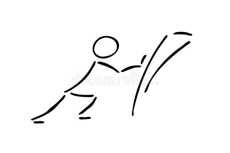 Hercules que empurra uma parede ilustração royalty free