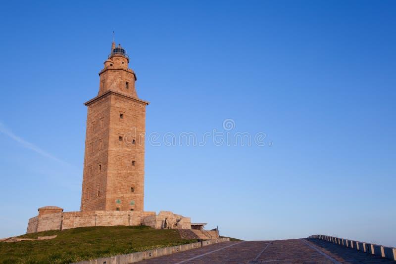 Hercules står hög, La Coruna fotografering för bildbyråer