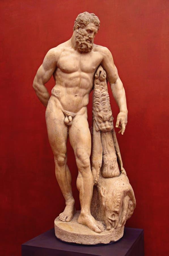 Hercules Statue royalty-vrije stock afbeeldingen