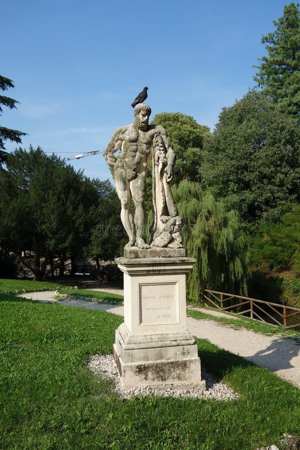 Hercules Statue in Salvi Garden stock foto's