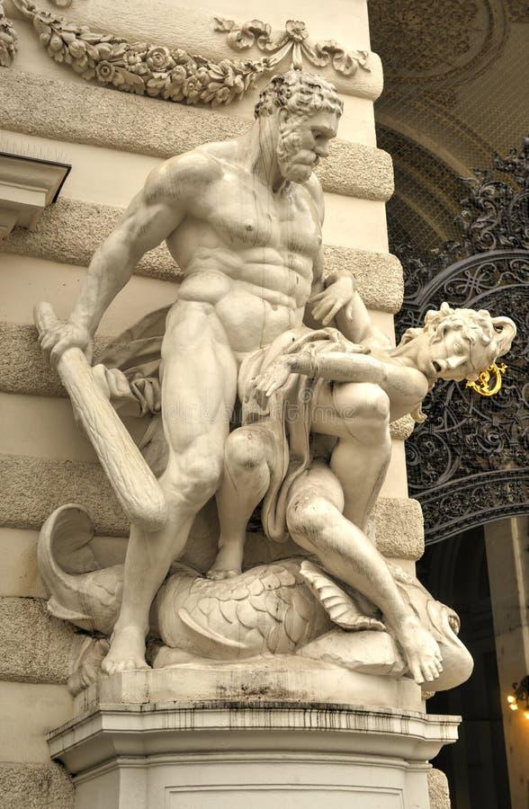 Hercules Statue - Wenen, Oostenrijk royalty-vrije stock afbeelding