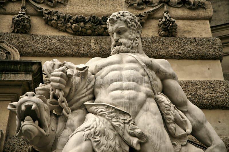 Hercules Strangling Beast royalty free stock photo