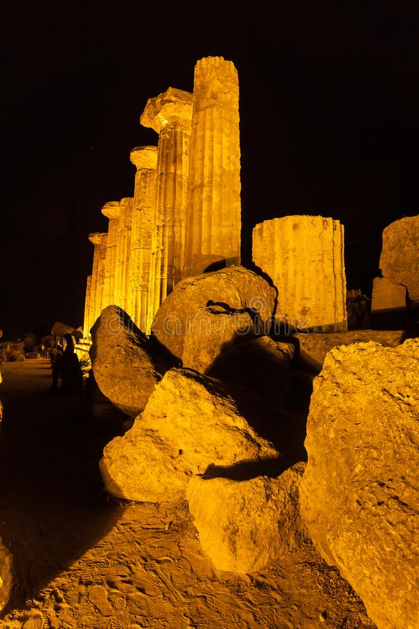 Hercules Temple in Agrigento archaeological park. Sicily royalty free stock photo