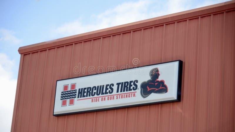 Hercules Tires Manufactuer stock afbeeldingen