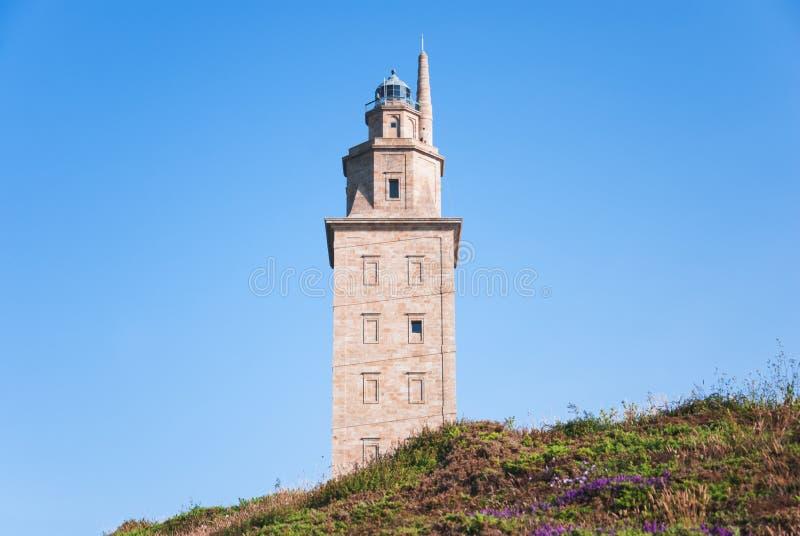 Hercules-toren royalty-vrije stock foto