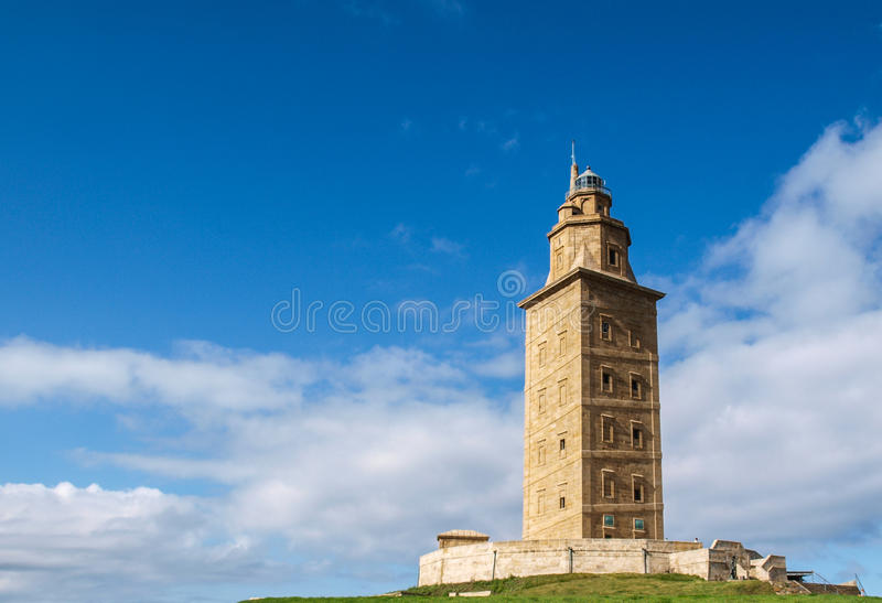 Hercules-toren stock afbeelding