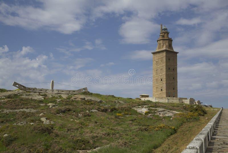 Hercules-toren stock afbeeldingen