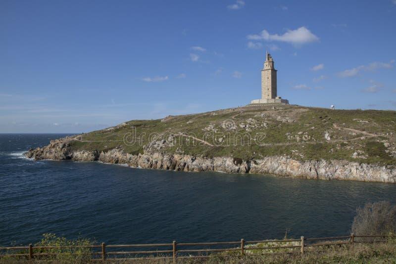 Hercules Tower, La Coruna, Galicië royalty-vrije stock afbeelding