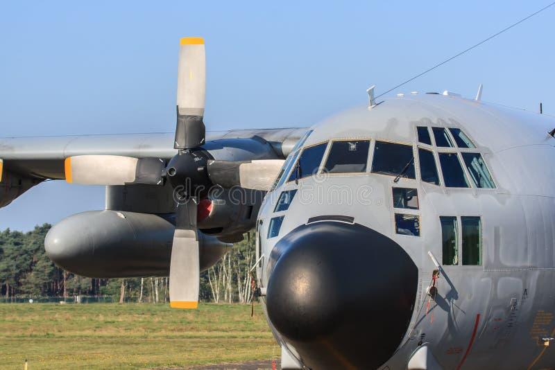 Hercules-vervoervliegtuig royalty-vrije stock afbeeldingen