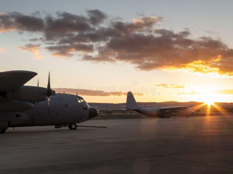 Hercules-vliegtuigen III stock fotografie