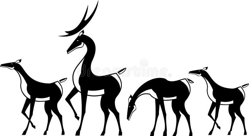 Download Herd of deer stock vector. Illustration of buck, hunting - 11345912