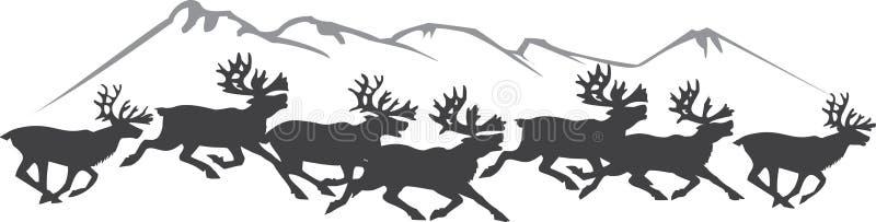 Download Herd of reindeers stock vector. Illustration of deer - 11265759