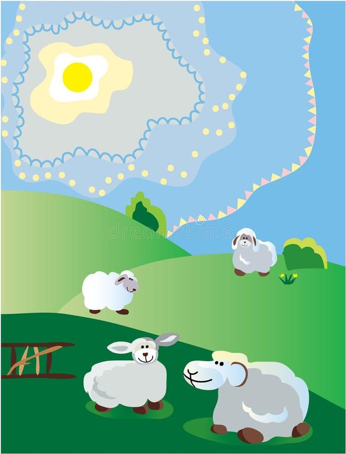 herde- fjäder stock illustrationer