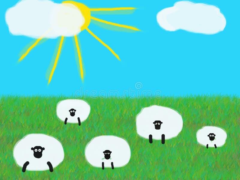 Herde von Schafen stockfoto